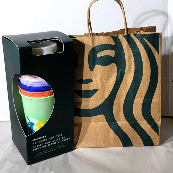 Starbucks 2021 Spring 6 pack hot drink cups 16oz